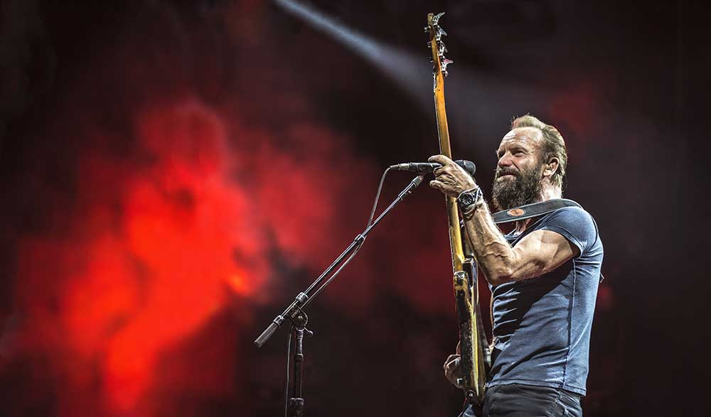 Live • Concert Sting photos • Rock en Seine