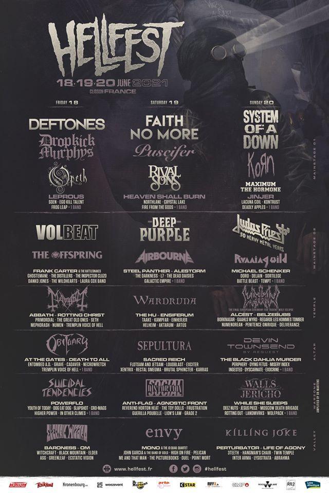 Programme Hellfest 2021
