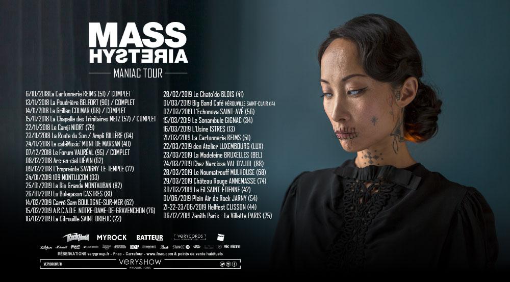 tournée mass hytsteria maniac tour