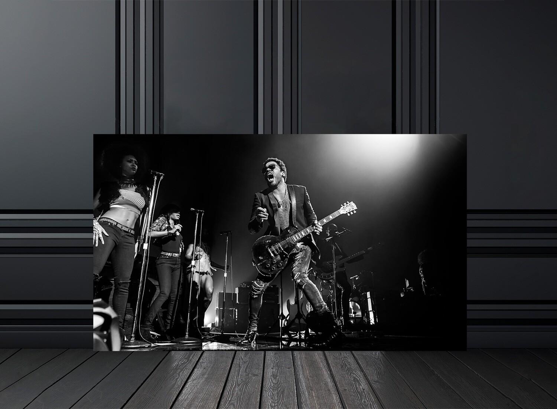 Photo noir et blanc concert Lenny Kravitz - Crédit photo Eric CANTO