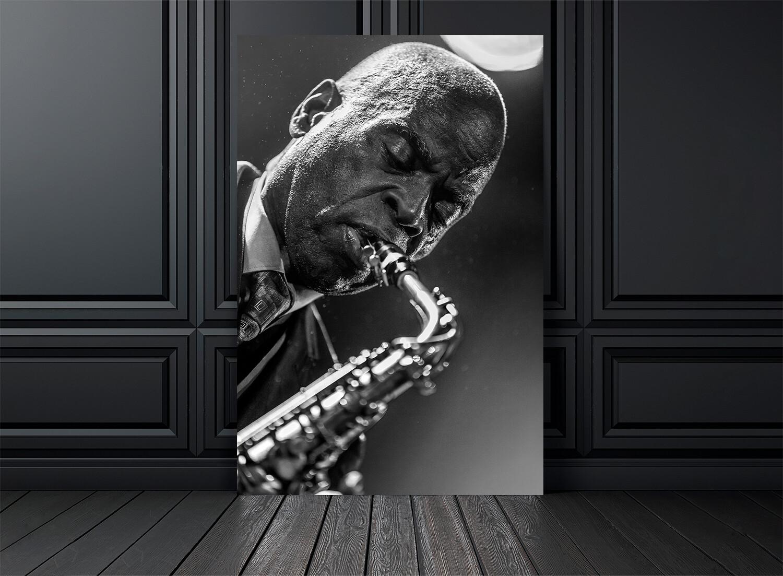 Photo noir et blanc concert Macéo Parker - Crédit photo Eric CANTO