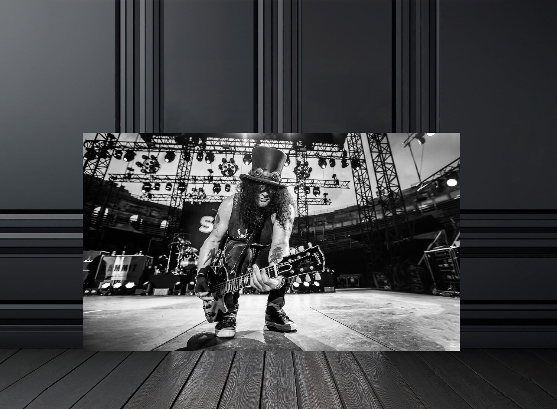 Photo noir et blanc concert slash - Crédit photo Eric CANTO