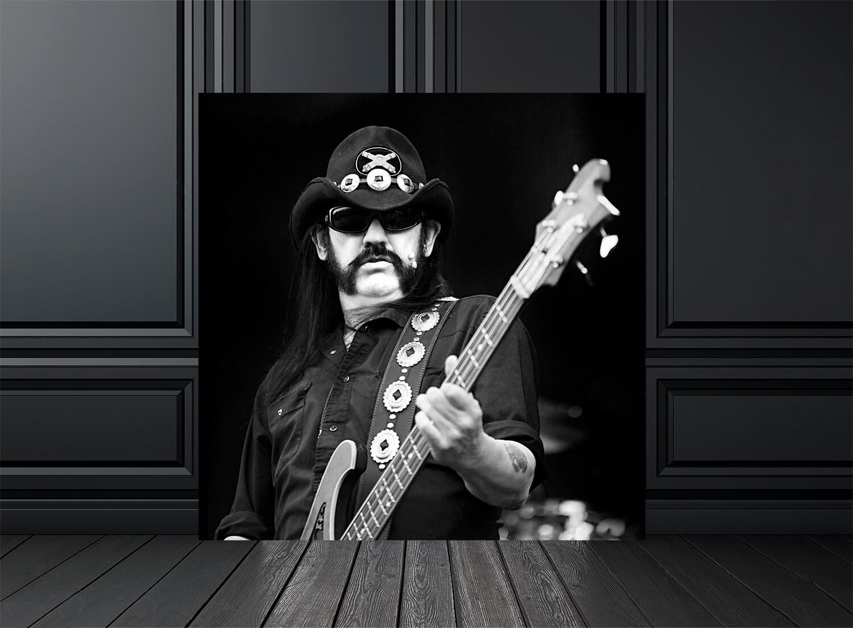 Photo noir et blanc concert Motorhead Lemmy - Crédit photo Eric CANTO